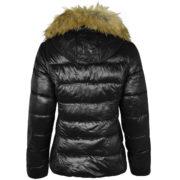 Black Winter Coat With Fur Hood Fancy