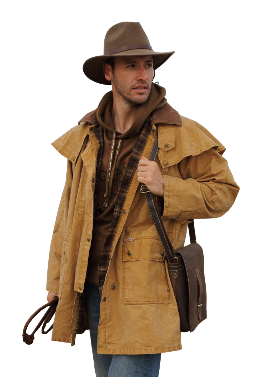 Cowboy Western Brown Duster Coat