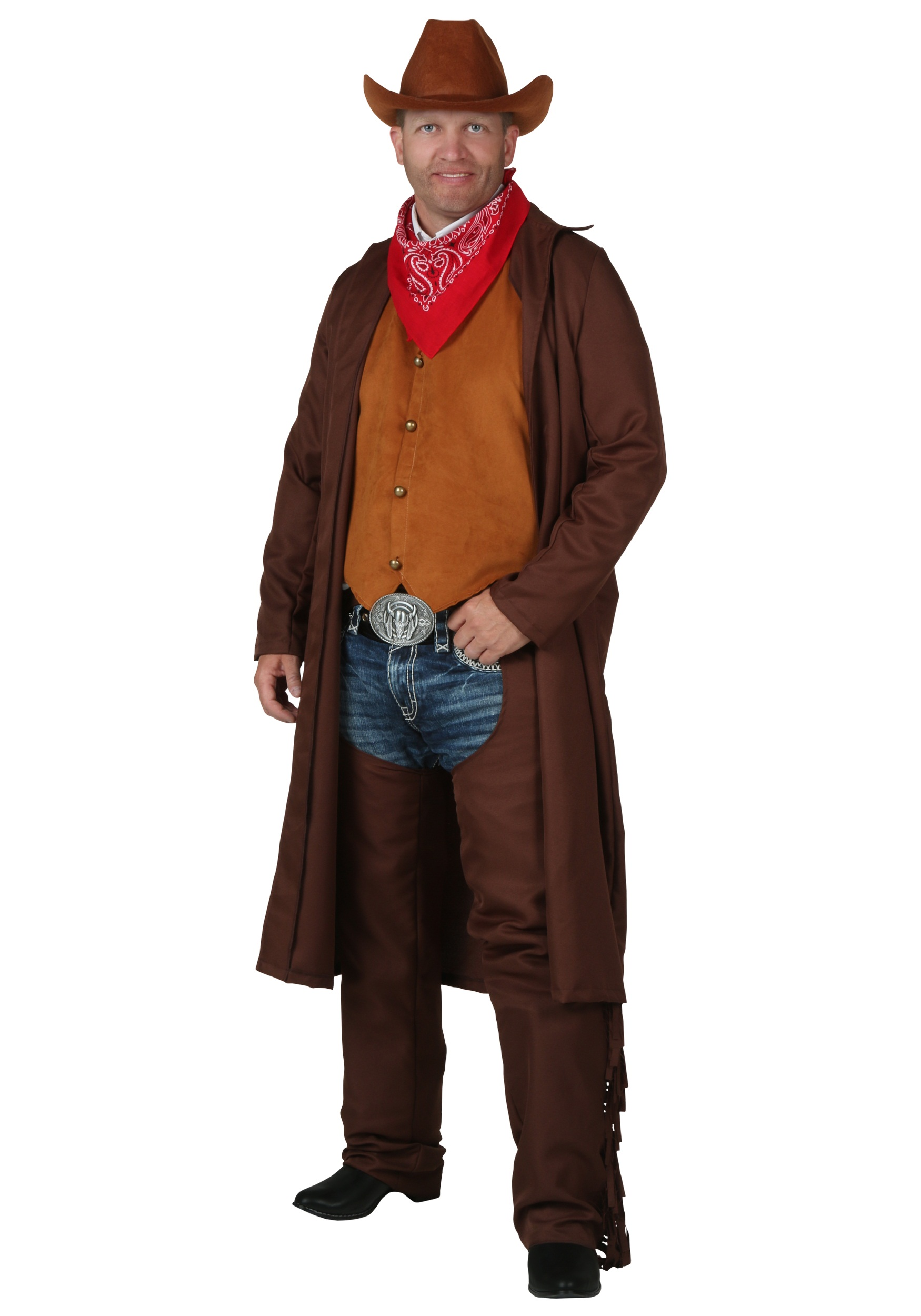 Plus Size Rancher Cowboy Costume Duster Coat